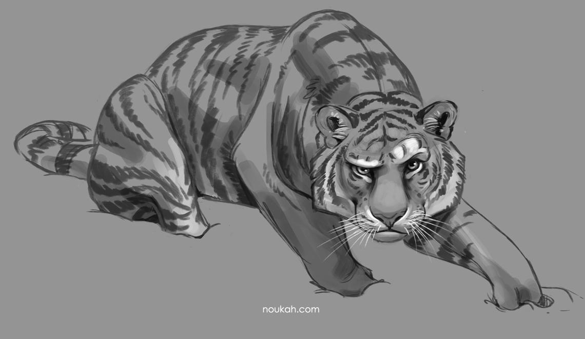 Tiger skiss i Photoshop